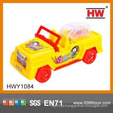 Linha quente da tração da venda do pó mini brinquedo do carro do brinquedo com doces