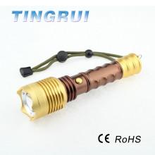 High Power Light 3.7V lampe de poche rechargeable avec boussole