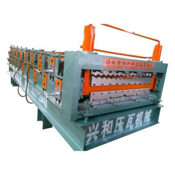 Bunte verzinkte Metalldachplatte Doppelschicht-Rollenformmaschine