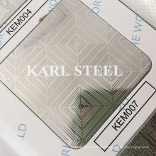 201 Stainless Steel Silver Color Embossed Kem007 Sheet