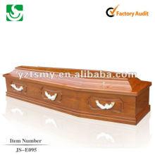 cercueil en bois solide couvercle plat JS-E095