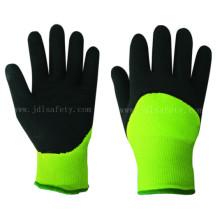 Пены латекса работы перчатка Coateing 3/4 для поддержания теплой (LY2039F)