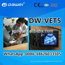 Portátil LCD VET Digital portátil de ultrasonido para la prueba de embarazo de vaca 2017