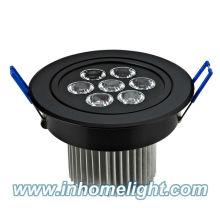 108 * 70mm 7W plafonnier conduit lampe vers le bas