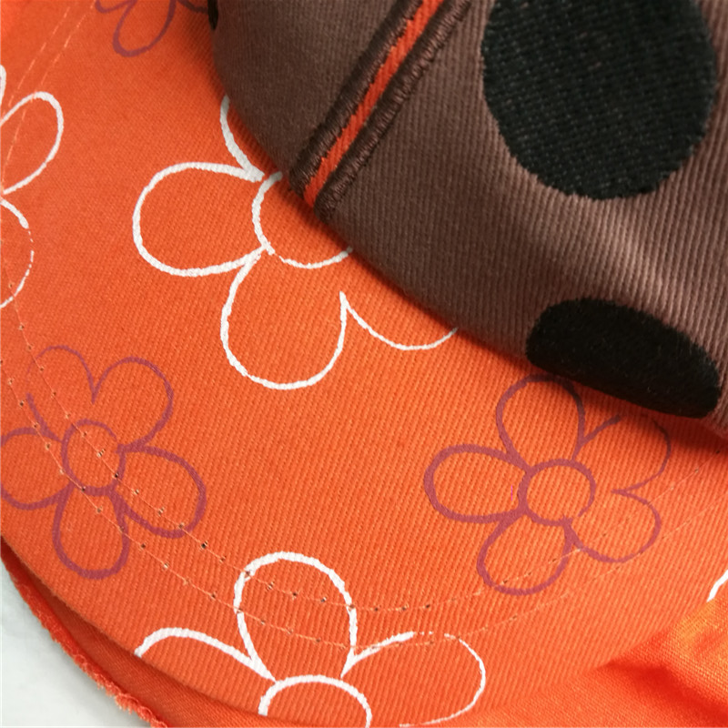 Outdoor Children Embroidery Patch Flap Cap