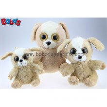 Big Eyesplush Dog Toy Stuffed Brown Sitting Dog Animal Toys Bos1169
