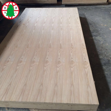 Tablero de MDF de chapa de fresno natural 18 mm