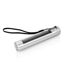 Солнечная энергия алюминиевого сплава Высокая мощность водонепроницаемый фонарик