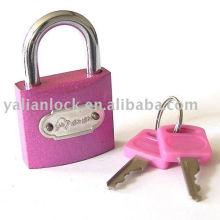 Red color padlock
