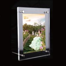 Magnetische Perspex Display Rahmen, frei stehende Acryl Foto Frame