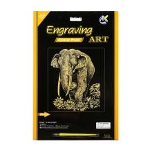 Crianças brinquedos Artificial artesanato elefante de ouro