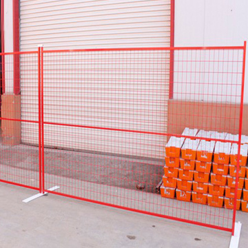 Kanada Pembinaan Fencing Powder Coated Temporary Fencing