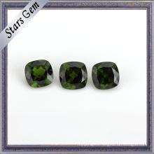 Natural Precious Jade Green Cushion Cut Diopside Gemstone