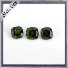 Natural Precioso Jade Verde Almofada Cut Diopside Gemstone