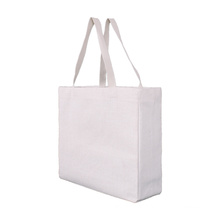 Reusable Foldable Grocery Shopping Bag White Cotton Canvas Woman Tote Bag with custom Logos