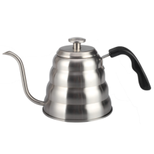 Stainless steel coffee pot with gooseneck