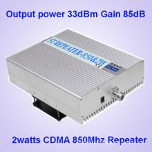 85dBm de alto aumento de la señal de teléfono celular Booster para CDMA 850MHz