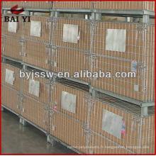 cages de stockage de palettes métalliques
