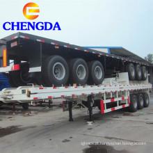 Semi reboque Flatbed Container de 3 eixos 40 pés 60ton