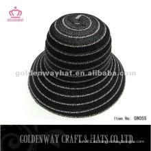 Señoras Short Brim Paper trenzado sombrero cloche GW055