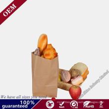 Environmental-Friendly Bakery Oil Proof Loaf Bread Wrapper Kraft Paper Bag Wholesale