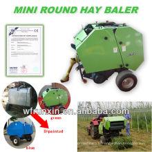 presse à balles de foin d'ensilage d'agriculture jumelée avec des tracteurs