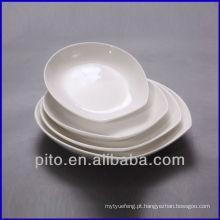 Placas de salada de fábrica de porcelana P & T, placa profunda
