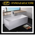 Rectangle White Bathtub Solid Surface Freestanding (BS-8617)
