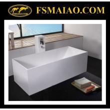 Surface solide de baignoire blanche de rectangle libre (BS-8617)