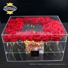 La caja material de acrílico al por mayor de la flor custome hizo la caja de acrílico de la exhibición