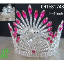 Corona corona de equipaje en forma de anillo princesa belleza mini tiaras corona
