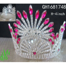 New designs rhinestone royal accessories wholesale pageant crowns and tiaras