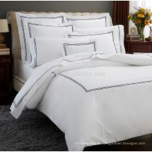 poliéster algodão tipo de envelope bordado conjunto de cama - conjunto de capa de edredão de cama de linho