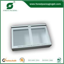 Caja de cartón blanco cosmético con ventana de PVC