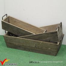 Vintage Pretty Designs Idéias caixa de madeira com alça