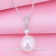 2018 Factory Wholesale Jewelry New Design Pearl Necklace Rhodium plated jewelry is your good pick