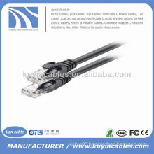 Black utp Cat6 Patch cord Ethernet Network Lan Cable 4pr 24awg