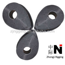 14mm din 3091 carbon steel heavy wire rope thimbles manufacturer
