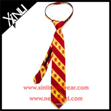 Boys Ready Knot con YKK Zipper Gryffindor Harry Potter Custom Print Silk Tie