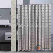 Cortina de chuveiro de luxo com design jacquard duplo lado