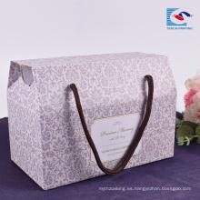 Caja de papel de embalaje corrugado de Sencai Custom Promotion con mango