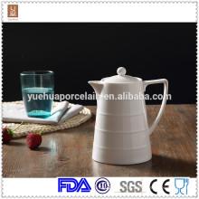 1000ml Großhandel weißen Keramik Kaffee Milch Topf / türkischen Teekanne