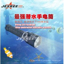Lanterna escondida lanterna de mergulho submersa de 100 m
