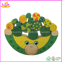 Frog Shape Wooden Children Balance Block Game (W11F010)