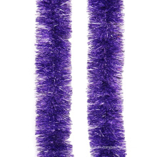 Purple Color PET Tinsel Garland Indoor Decoration for Christmas Christmas Tree Ornament Assorted Size SY Xmas Rope Machine
