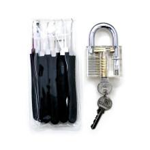 Прозрачный практика замок с черными 9pcs инструменты Взлом (комплектация 2)
