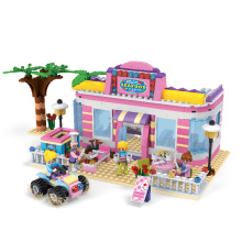 Special Offer!Funny Christmas set for kids brick house toy building block size