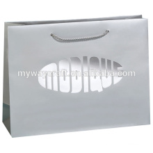wholesale eco-friendly custom logo paper shopping bag with hot stamping foil high quality for cloth