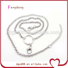 Cheap high quality stainless steel rolo chain for locket