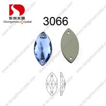Plus récent disign navette capri bleu coudre sur la pierre pour vêtement